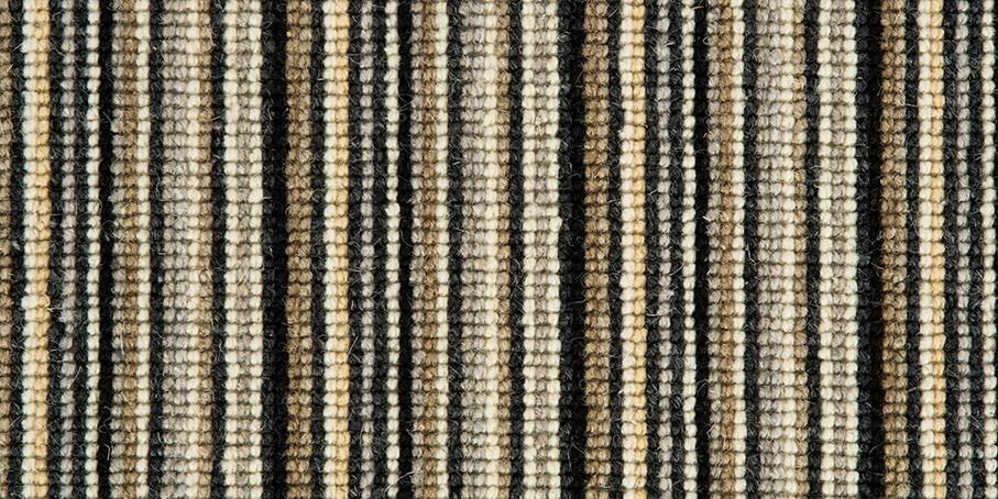 Black   Silver Mississippi Wool Carpet