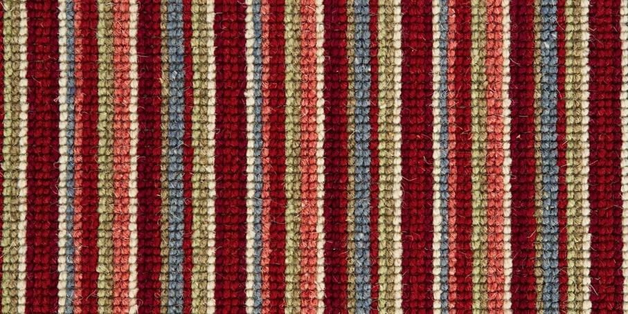 Burgundy   Blue Mississippi Wool Carpet