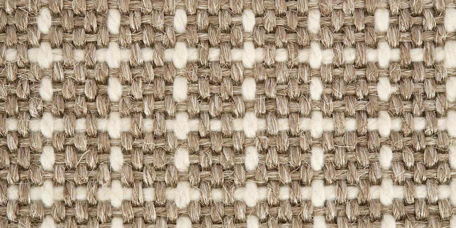 Chalk White Plaid Sisool Carpet 1