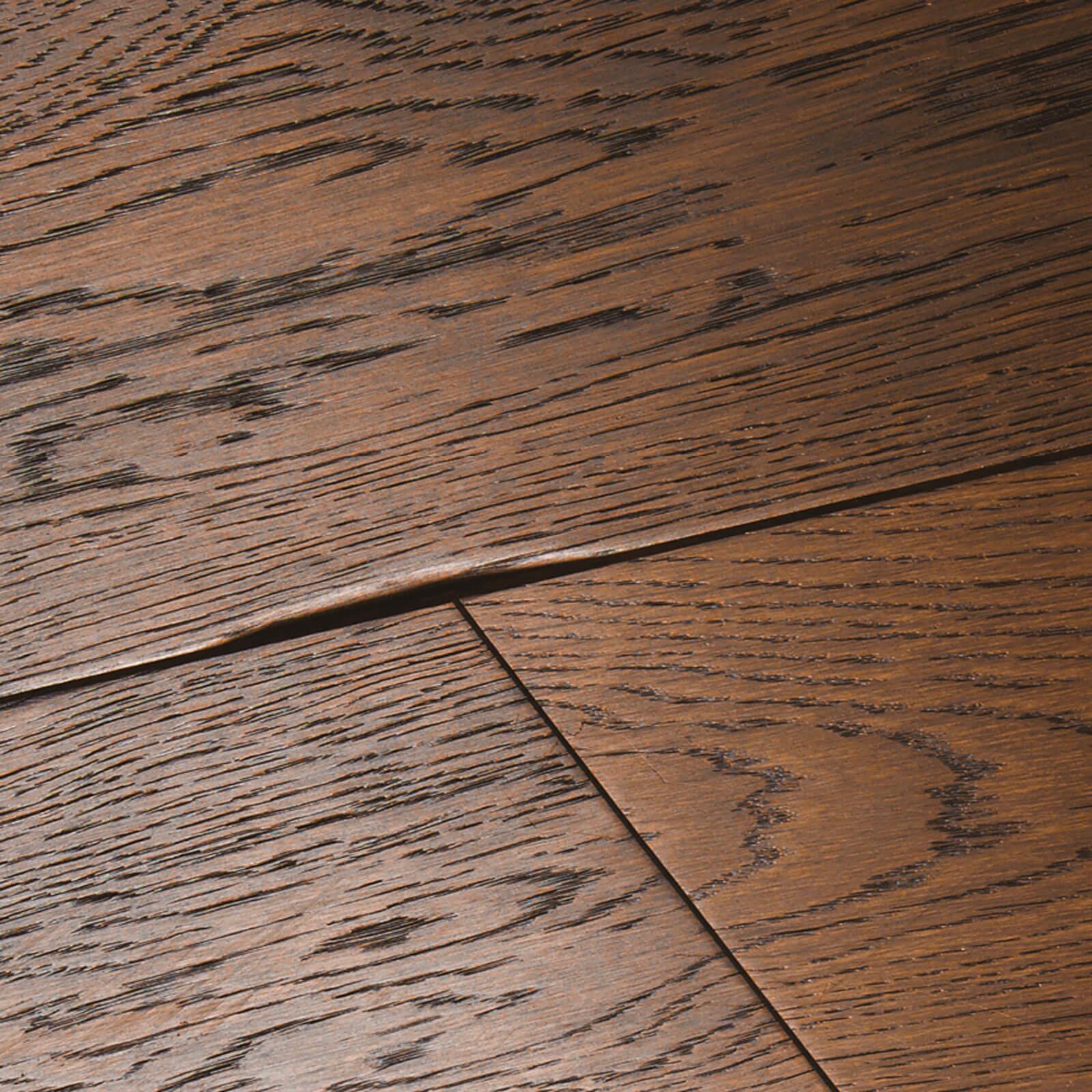 Distressed Charcoal UV Hardwax Oil Oak Chepstow Woodpecker Flooring