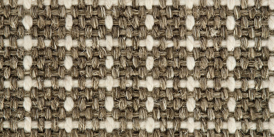 Misty Grey Plaid Sisool Carpet 1