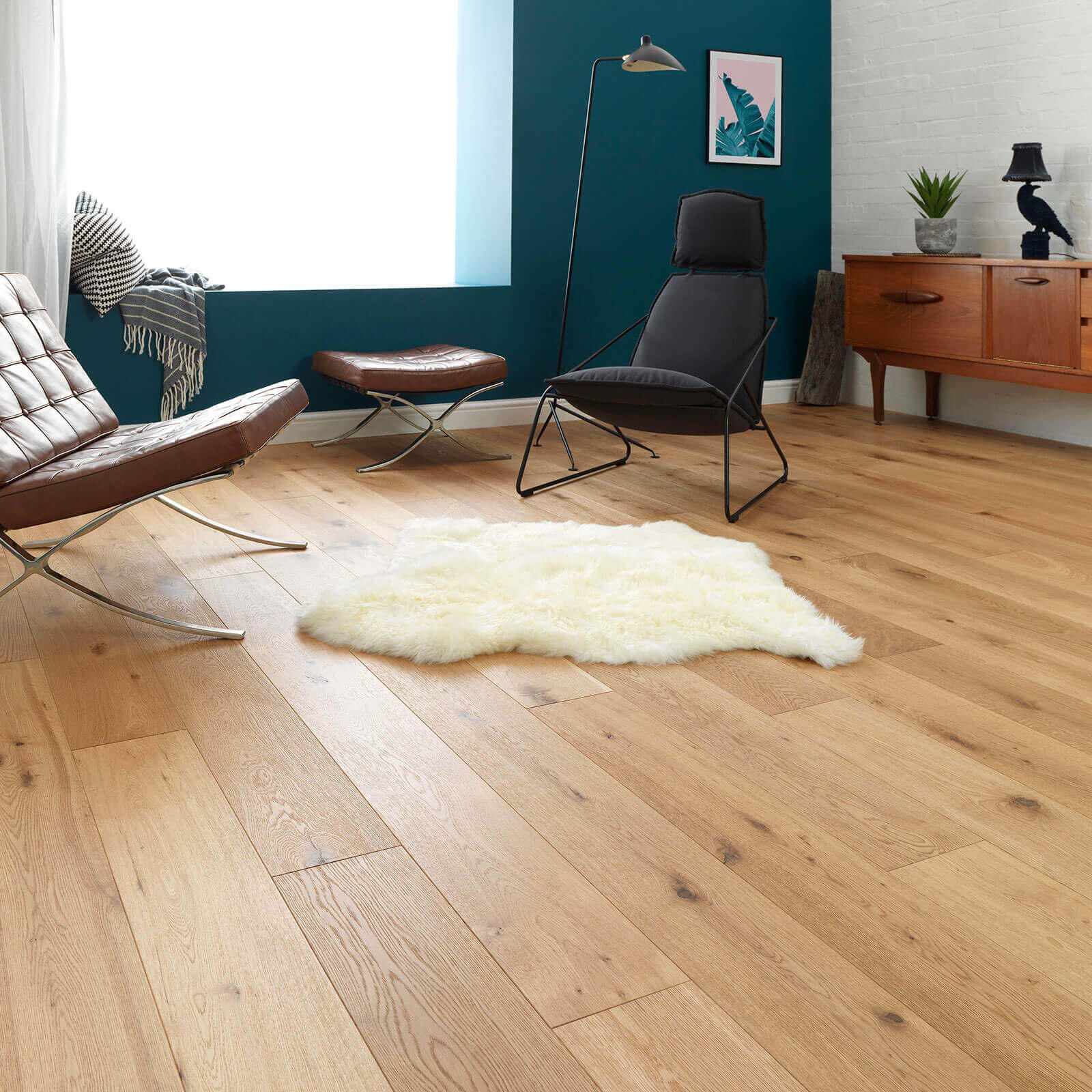 Oak Rustic Brushed Oiled Oak Chepstow Woodpecker Flooring Lifestyle