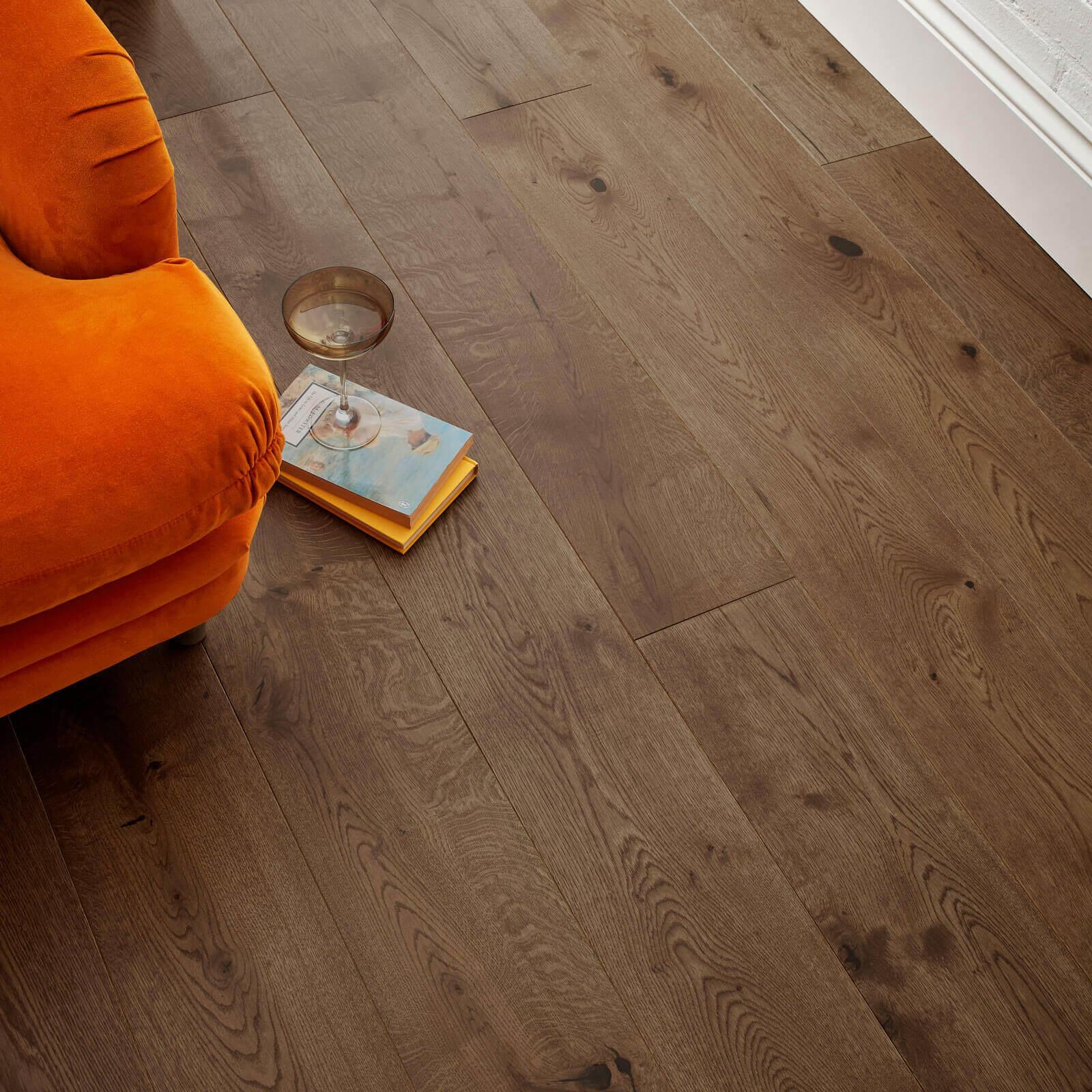 Planed Antique UV Hardwax Oil Oak Chepstow Woodpecker Flooring Lifestyle