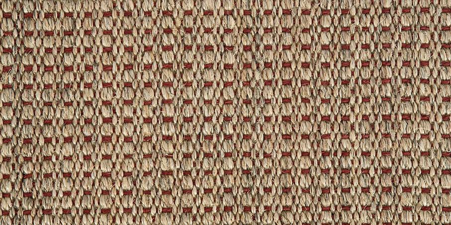 Red Panama Champagne Sisal Carpet