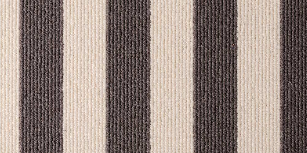 Sable Bone Blocstripe Wool Carpet