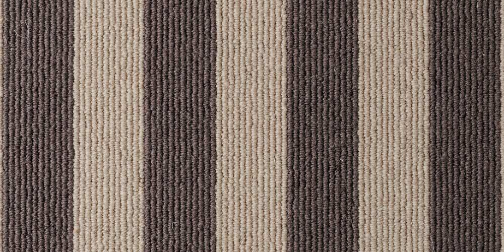 Sable Olive Blocstripe Wool Carpet