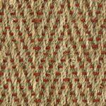 Seagrass Herringbone Red Weft
