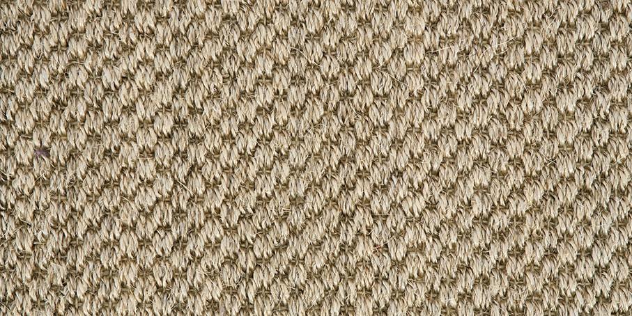 Silver Oriental Sisal Carpet