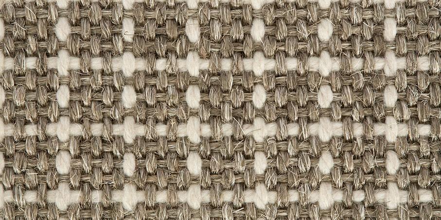 Warm Grey Plaid Sisool Carpet 1
