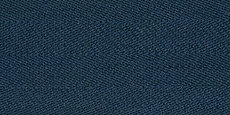 French Navy Cotton Herringbone Border