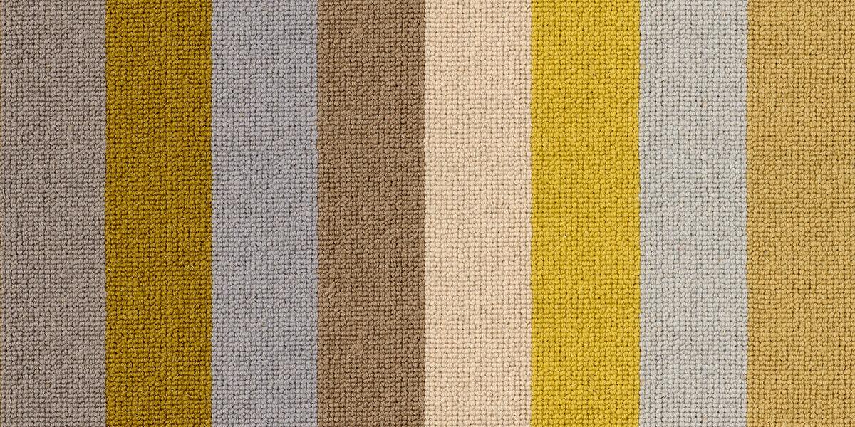Whitstable Sun Margo Selby Stripe Wool Carpet
