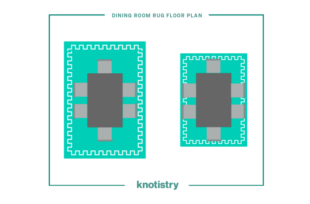dining room rug plan