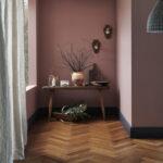 Oxwich Herringbone Coffee Strand Bamboo Flooring Roomset 2