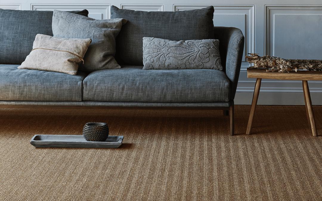 Crucial Trading Commercial Sisal Grand Herringbine light ash - Commercial Carpets